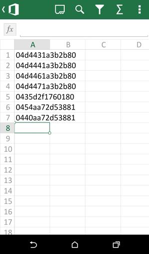 Excel-mobiel